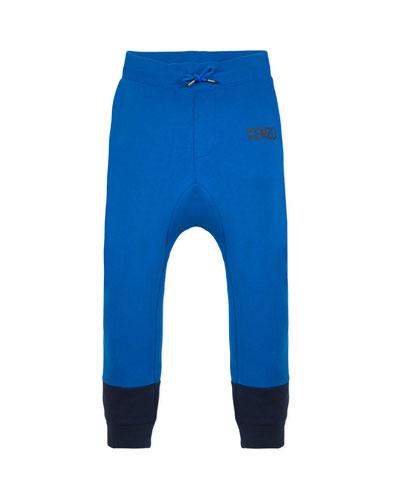 Boy's Two-Tone Sweatpants w/ Logo Taping  Size 2-6