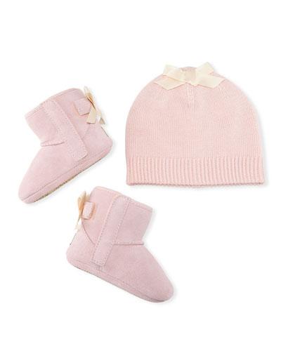 Jesse Bow II Suede Boots w/ Beanie Hat  Kids/Baby
