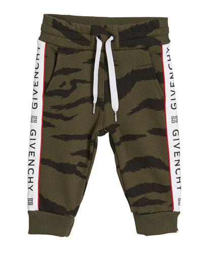 Boy's Camo Sweatpants w/ Logo Taping  Size 12M-3