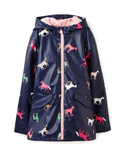 Raindance Waterproof Horse-Print Coat  Size 2-12