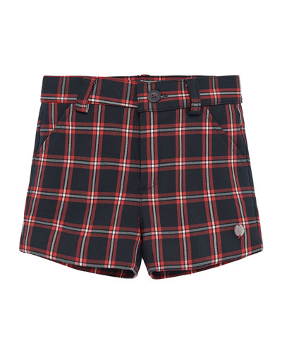 Boy's Check Shorts  Size 2-4