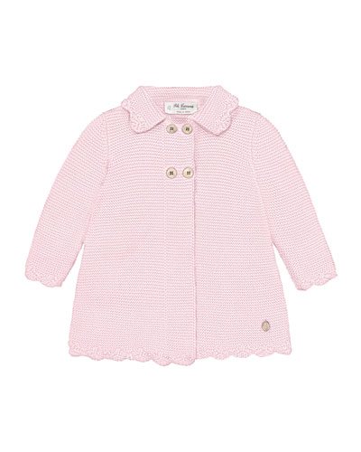Girl's Double Breasted Knit Sweater Jacket  Size 3M-2