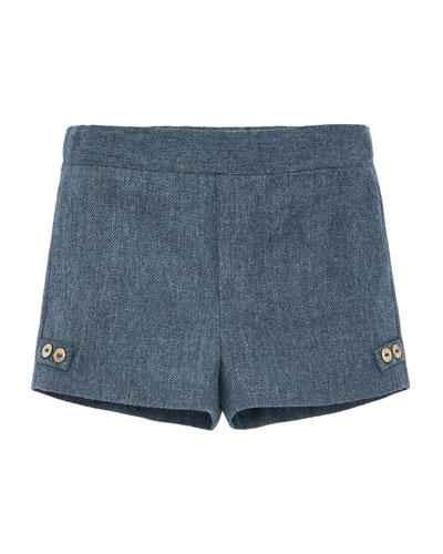 Cotton-Blend Tweed Shorts  Size 12M-3