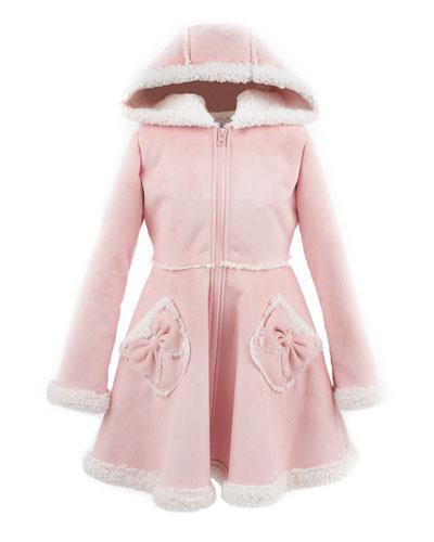 Kid's Faux Suede Hooded Princess Coat  Size XXS-L