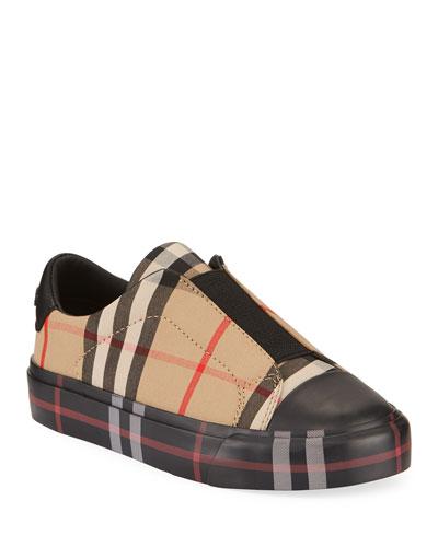 Mini Markham Elastic Vamp Check Sneakers  Toddler/Kids