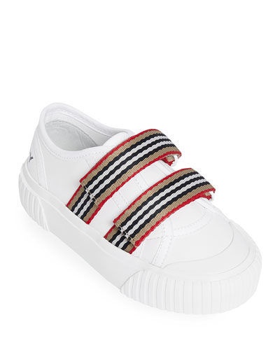 Ray Striped Grip-Strap Low-Top Sneakers  Baby/Toddler