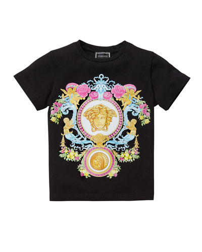 Girl's Multicolored Medusa Graphic Tee  Size 4-6
