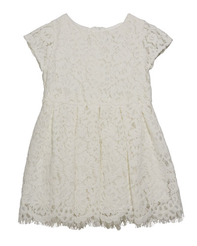 Girl's Cap Sleeve Lace Dress  Size 6-24 Months