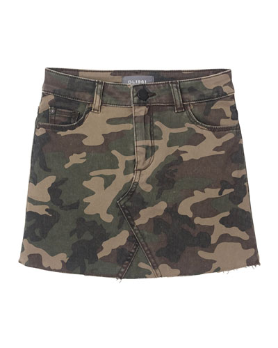 Jenny Raw Edge Camo Skirt  Size 2-6