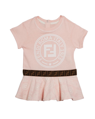 Girl's Logo Print Short-Sleeve Dress  Size 12-24 Months