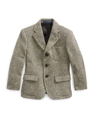 Princeton Herringbone Wool-Blend Blazer  Size 2-4