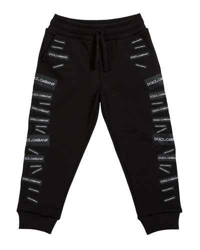 Logo Patch Sweatpants  Size 4-6