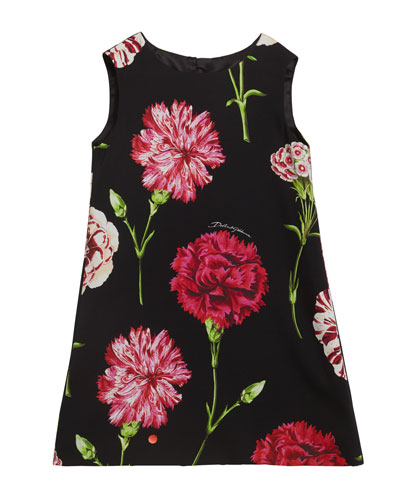 Girl's Sleeveless Floral Dress  Size 2-6