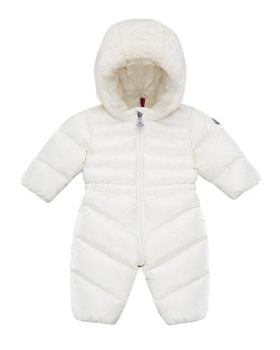 Puffer Snowsuit w/ Faux Fur Hood  Size 6M-3