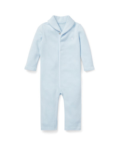 French Rib Shawl Coverall  Size 3-12 Months
