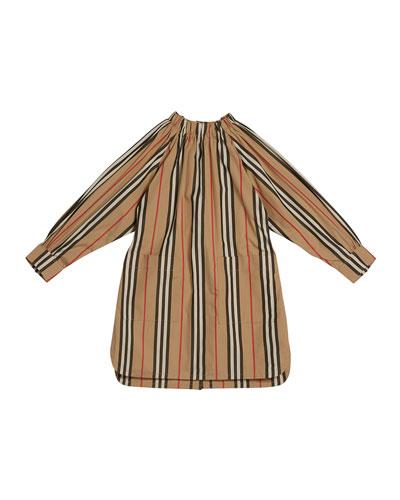 Girl's Melody Icon Stripe Shirt Dress  Size 3-14