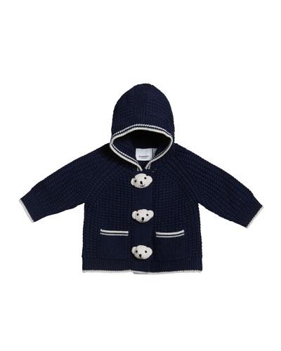 Boy's Knit Teddy Bear Jacket  Size 3-18 Months
