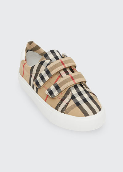 Markham Check Grip-Strap Sneaker  Toddler/Youth Sizes 10T-4Y