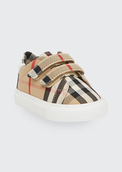 Markham Check Grip-Strap Sneaker  Baby