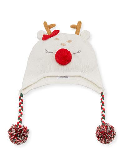 Reindeer Beanie Hat  Size 12M - 4T