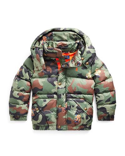 Boy's Camo Bear Print Jacket  Size 2-4