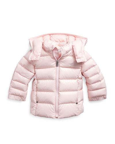 Girl's Quilted Down Jacket  Size 6-24 Months