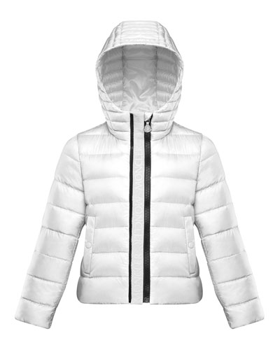 Girl's Glycine Logo Front Quilted Jacket  Size 8-14