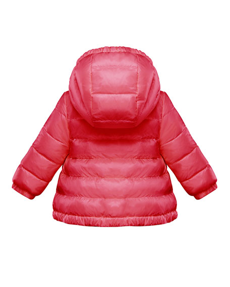 Girl's Muguet Quilted Logo Taping Jacket, Size 9M-3