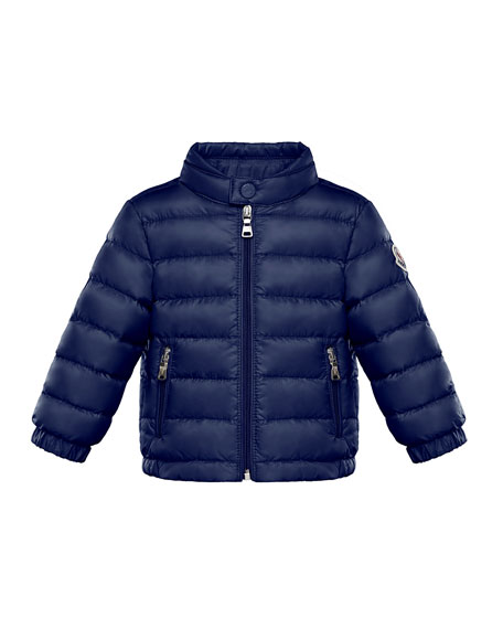 Kid's Acorus Stand Collar Quilted Jacket, Size 9M-3