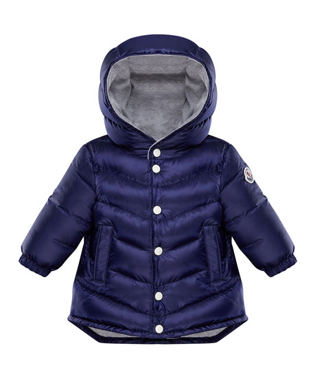 Image 1 of 1: Boy's Pit Long Hooded Parka, Size 9M-3