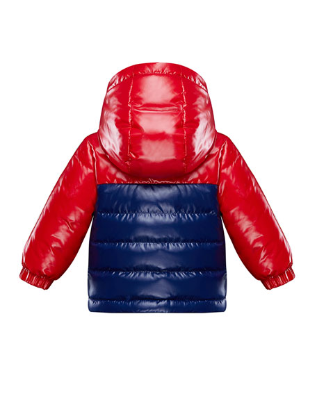 Boy's Jonc Lacquered Two-Tone Jacket, Size 9M-3