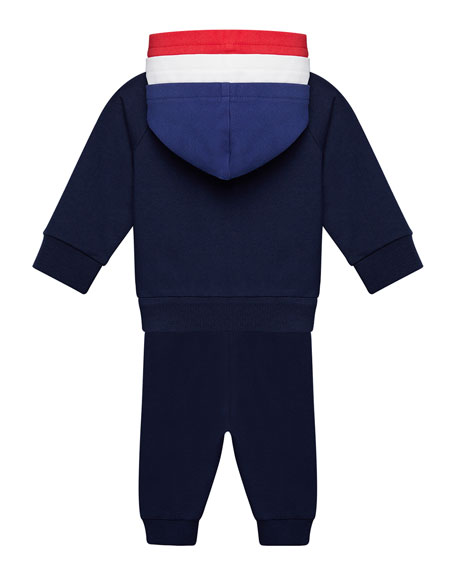 Boy's Molleton Hooded Jacket w/ Sweatpants, Size 6M-3