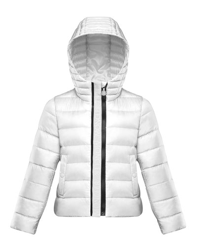 Girl's Glycine Logo Front Quilted Jacket  Size 4-6