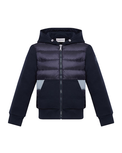 Boy's Puff Front Hooded Jacket  Size 4-6