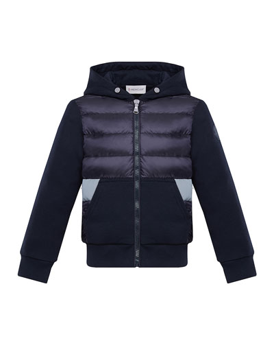 Boy's Puff Front Hooded Jacket  Size 8-14