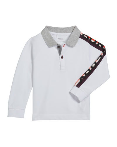 Boy's Duncan Polo Shirt w/ Logo Down Sleeve  Size 3-14