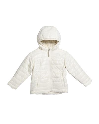 Toddler Girls Reversible Mossbud Swirl Jacket  Size 2-4T