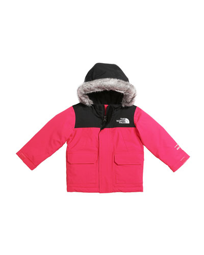 Girl's McMurdo Down Parka w/ Faux Fur Trim, Size 2-4T