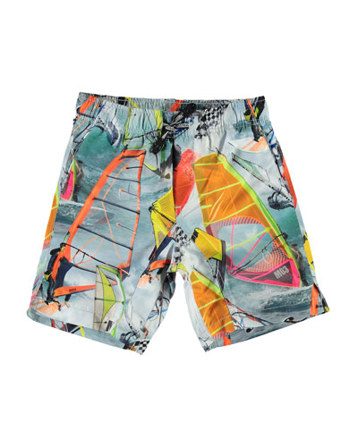 Boy's Nario Wind Surfer Swim Shorts  Size 3T-12