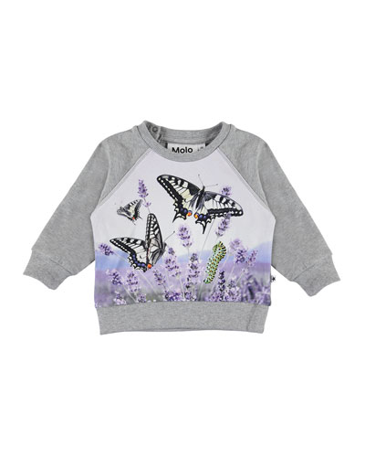 Girl's Elsa Butterfly Print Top  Size 6-24 Months