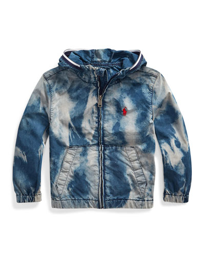 Boy's Denim Wind Breaker Jacket  Size 2-4