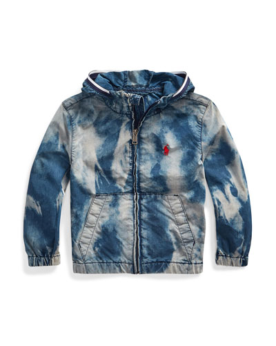 Boy's Denim Wind Breaker Jacket  Size 5-7