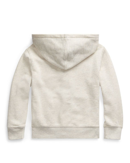 Boy's Polo Zip-Front Knit Jacket, Size 2-4
