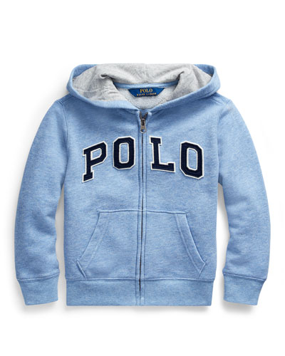 Boy's Polo Zip-Front Knit Jacket  Size 2-4