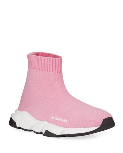 Speed Sock Sneakers  Toddler/Kids  Pink/White