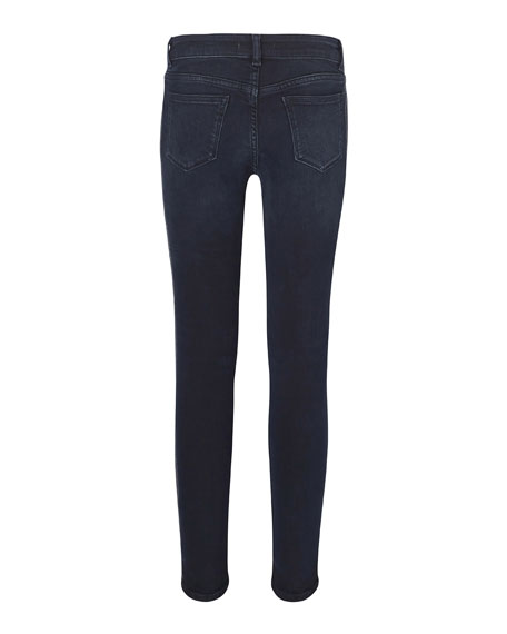 Girl's Chloe Skinny Metallic Side-Taping Jeans, Size 7-16