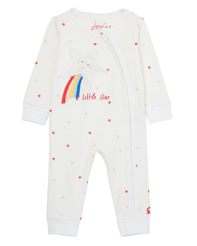 Girl's Winfield Star Print Shooting Star Coverall  Size 3-24 Months