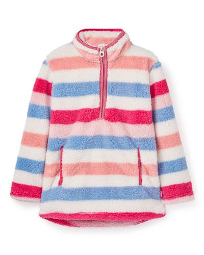 Girl's Ellie Stripe Fleece Pullover  Size 2-10
