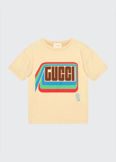 Boy's Tiger Graphic Short-Sleeve Logo T-Shirt  Size 4-12