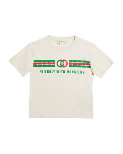 Boy's Friends with Monsters Logo Tee  Size 4-12